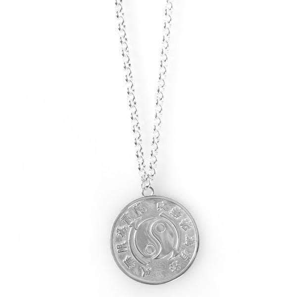 Core Symbol Small Sterling Silver Medallion & Chain