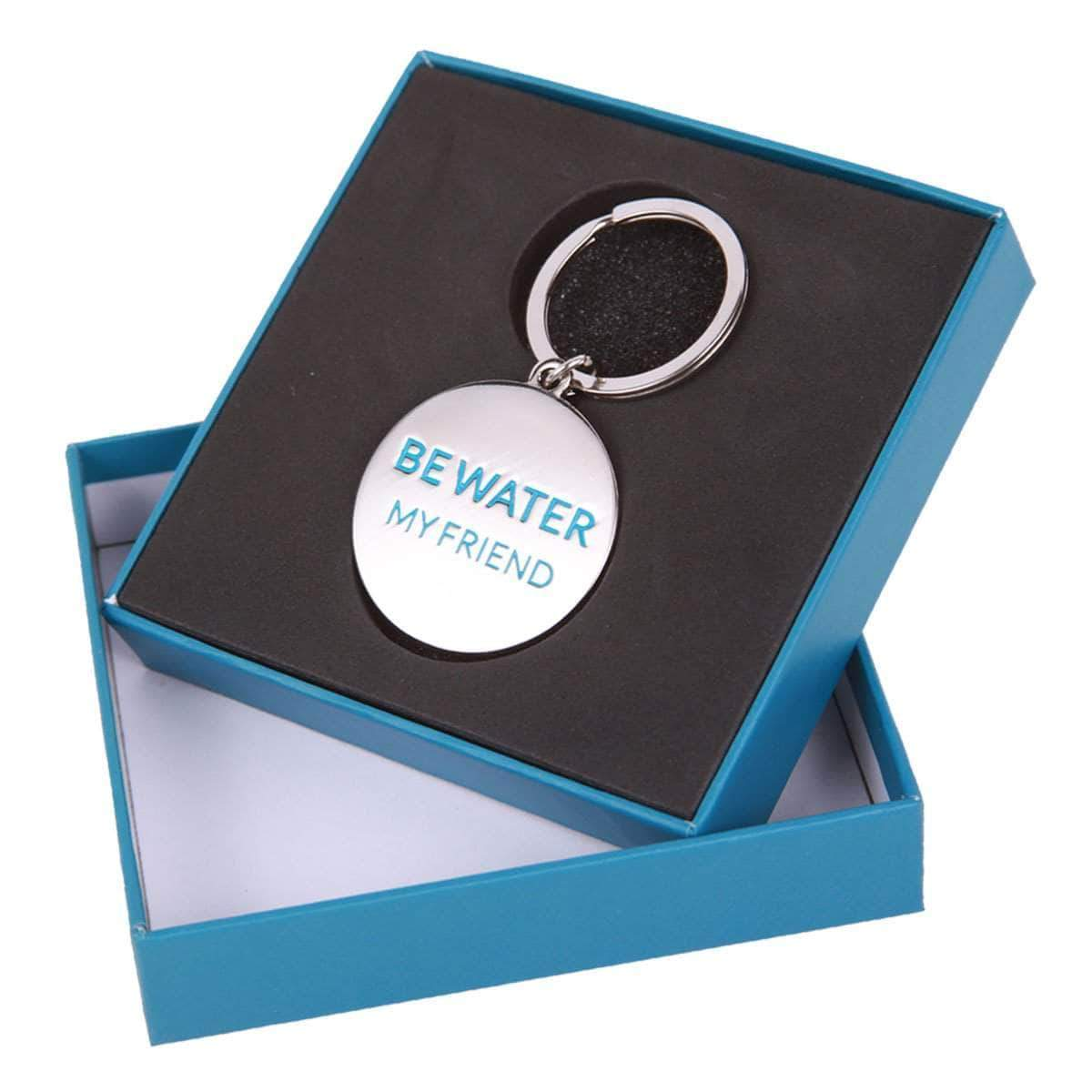 Be Water, My Friend Metal Keychain