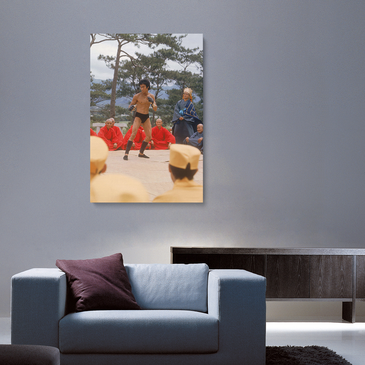 Bruce Lee Warrior Canvas Print