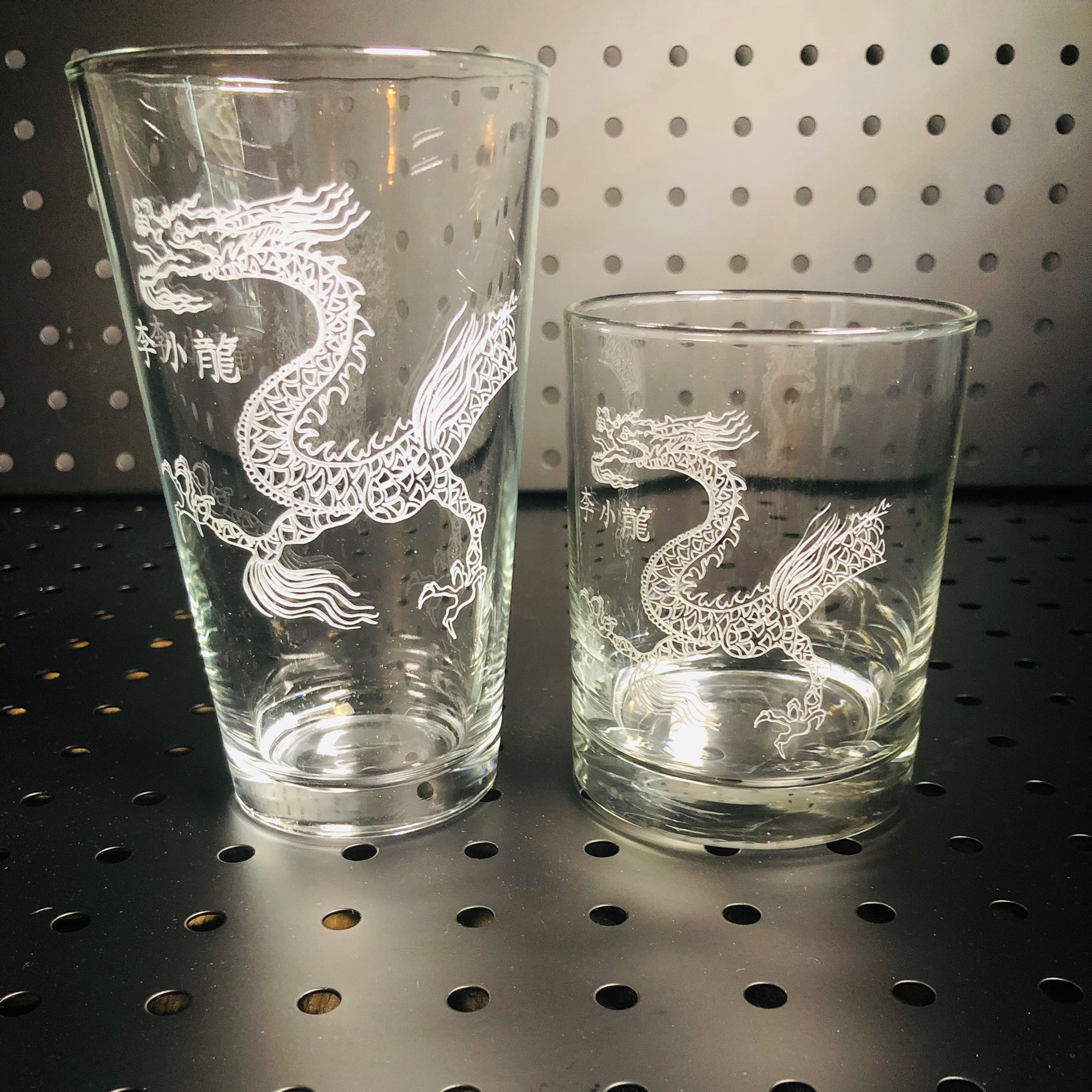 Lee Little Dragon 13.5oz. Etched Glass