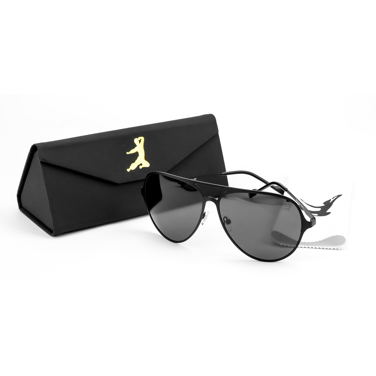 Bruce Lee Black Metal Sunglasses