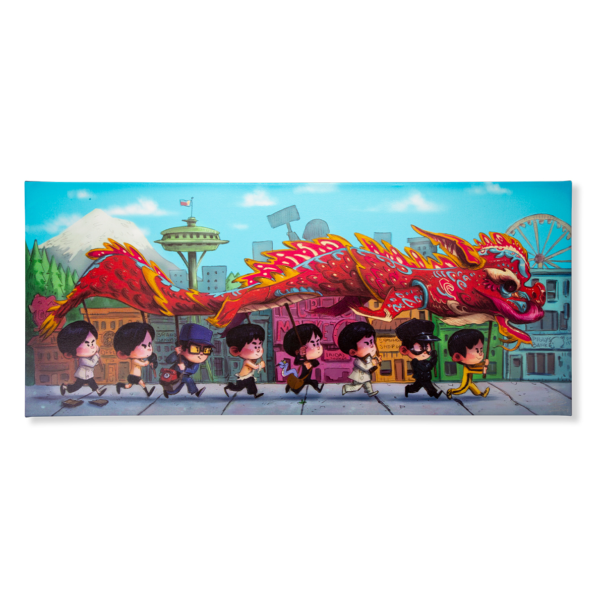 "ARTIST SERIES: ""The Dragon Dance"" Artist Signed Canvas Print"