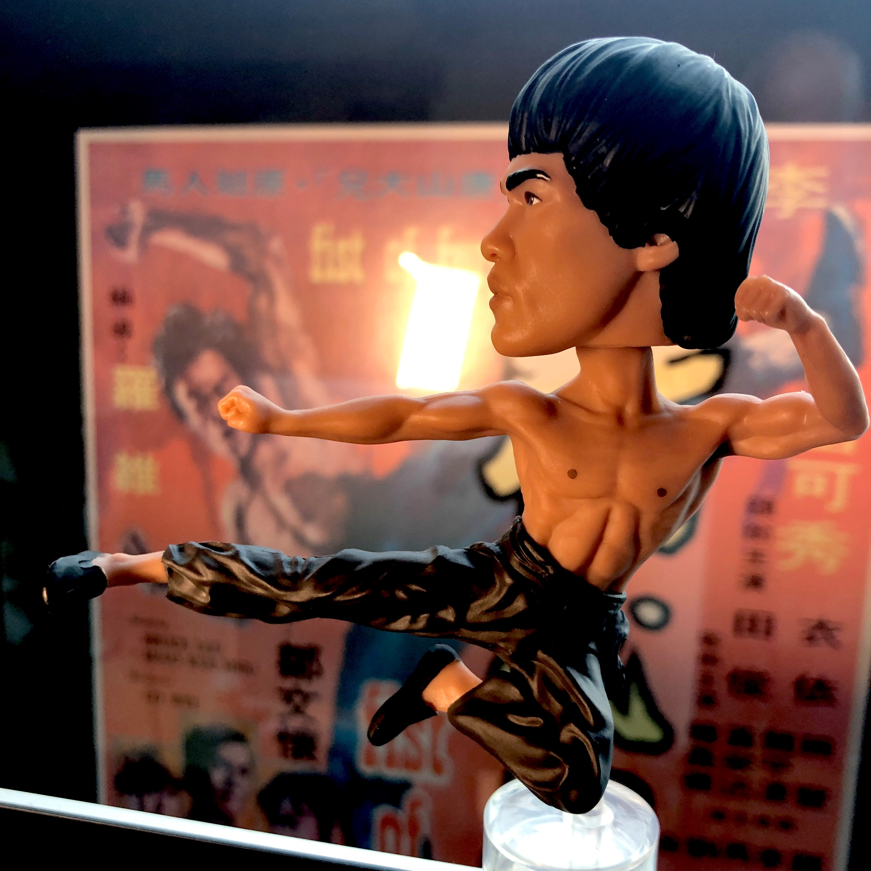 Bruce Lee Computer Sitter Bobblehead