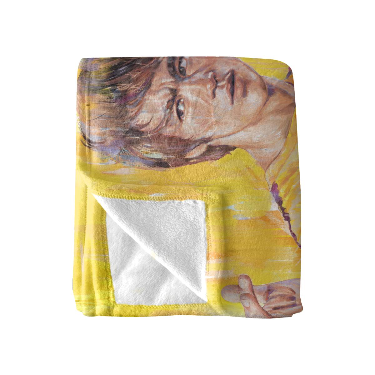 "ARTIST SERIES: ""Trick Jumpsuit"" Coral Fleece Blanket"