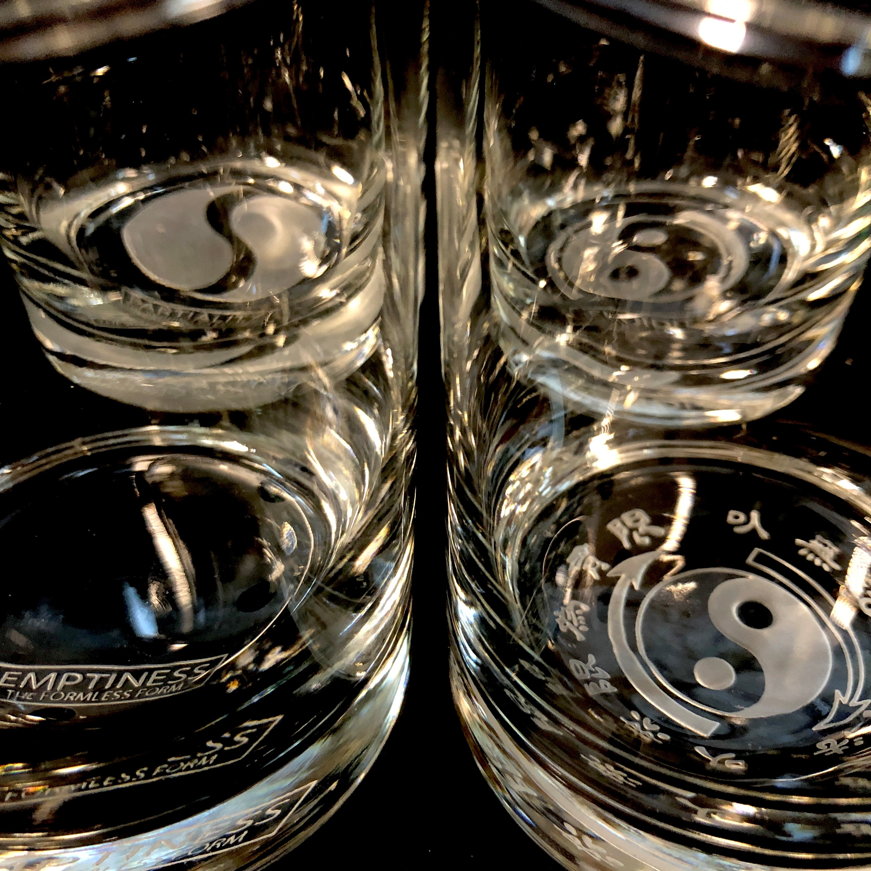 Stages of Cultivation 13.5oz. Etched Glass Set of 4