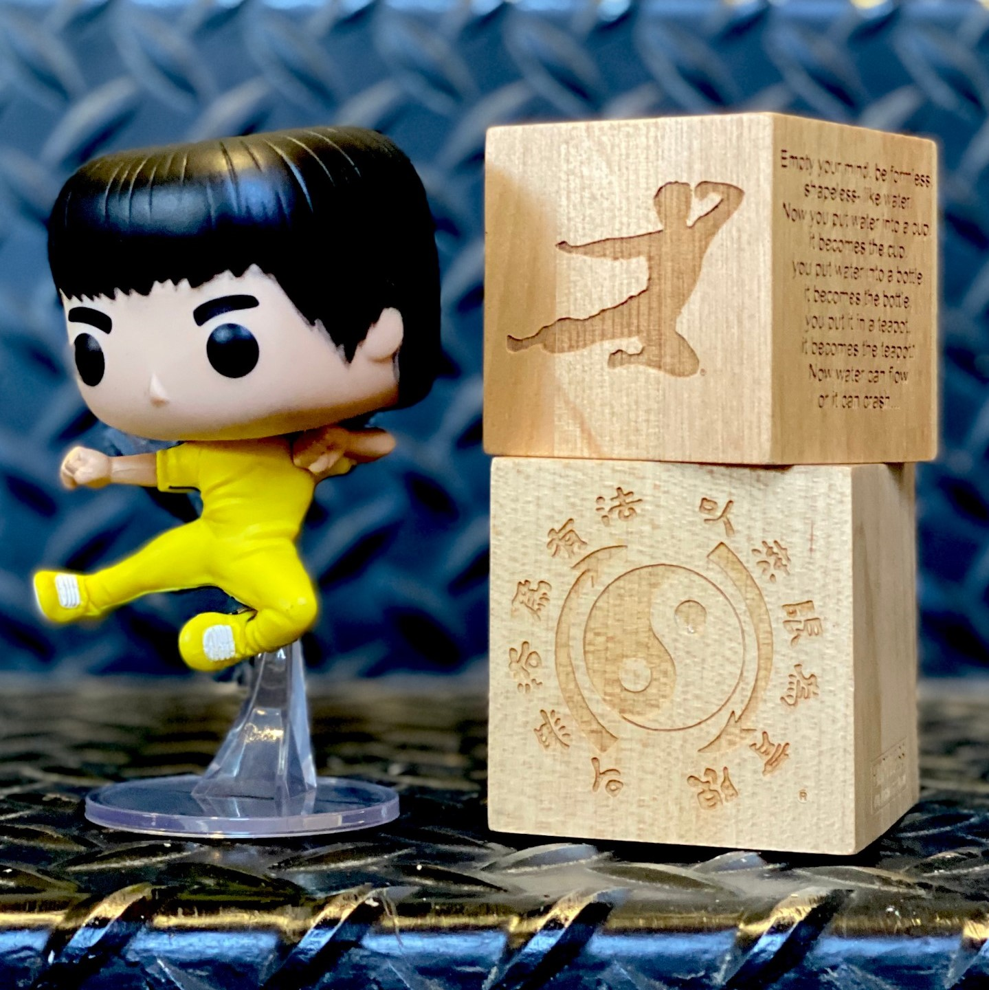 Bruce Lee Flying Kick Funko Pop Figurine