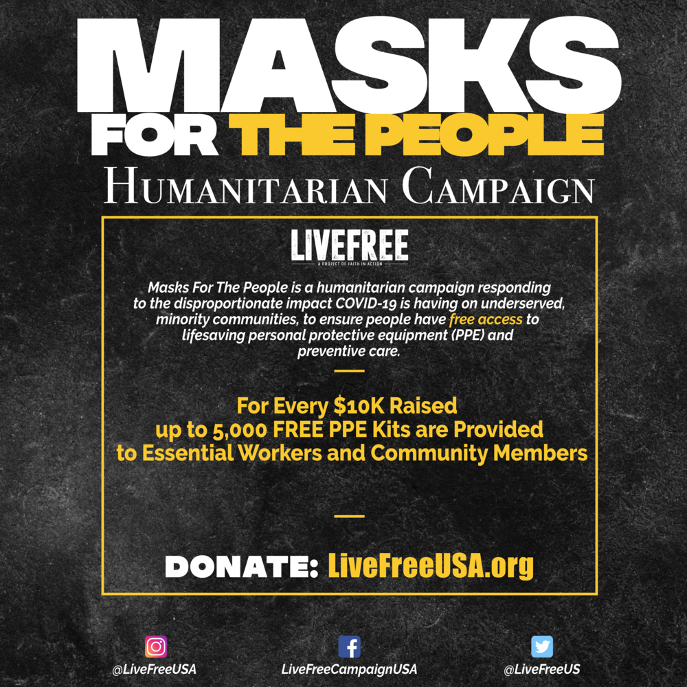 Live Free: Masks for the People $25 Donation