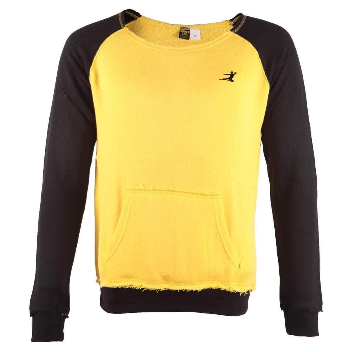 Bruce Lee Flying Man Ladies Slouch Pullover Sweatshirt