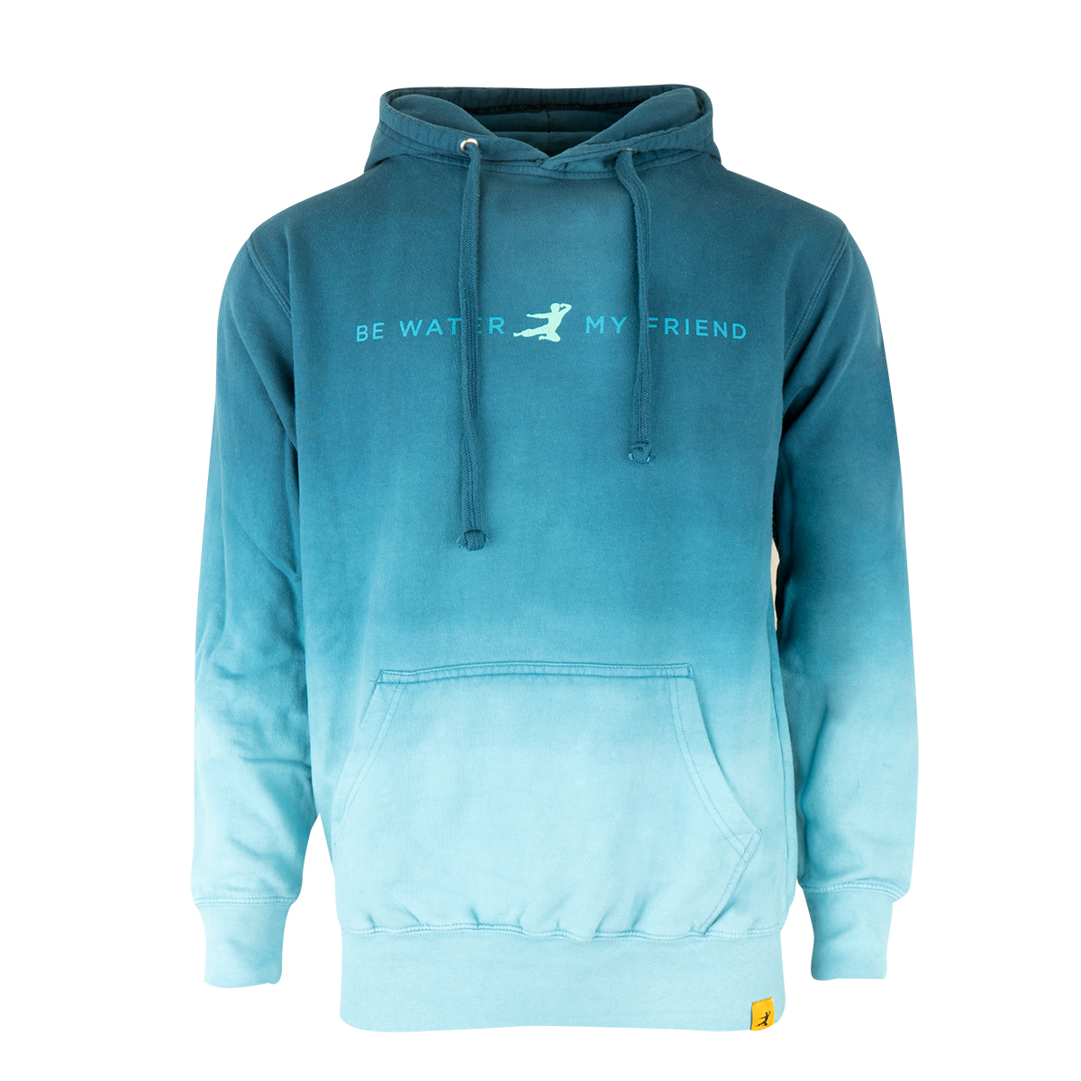 Be Water Ombre Flying Man Pullover Hoodie
