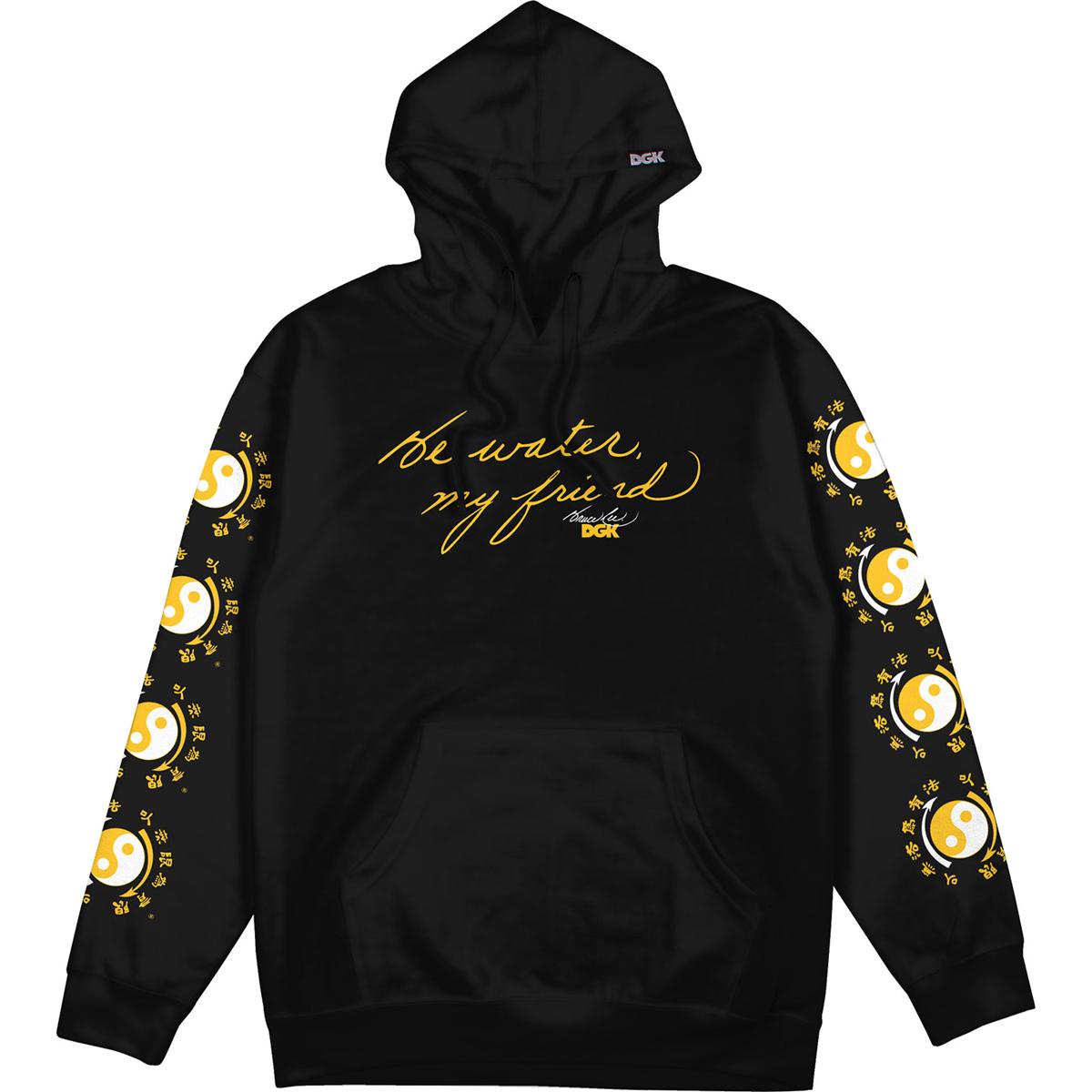 Be Water DGK Pullover Hoodie - Black