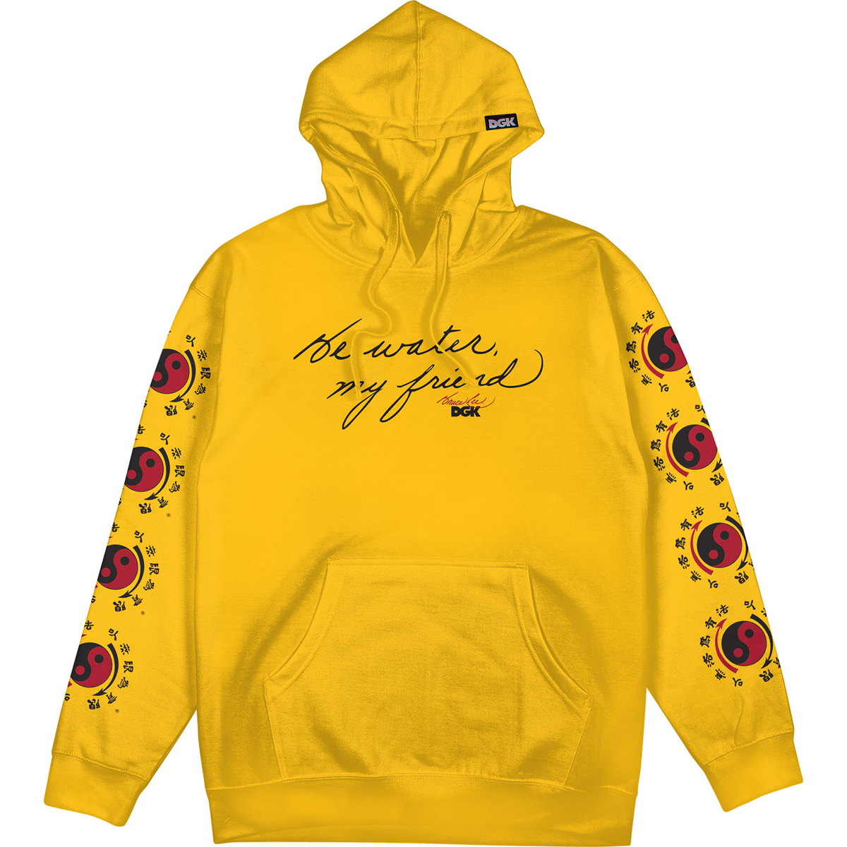 Be Water DGK Pullover Hoodie - Gold