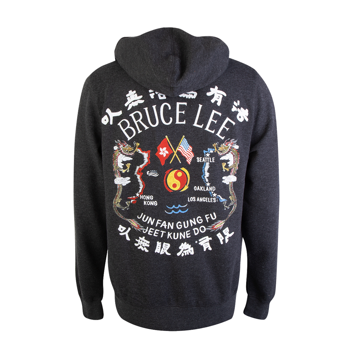Bruce Lee JFGF Dragon Full-Zip Tri-Blend Hoodie