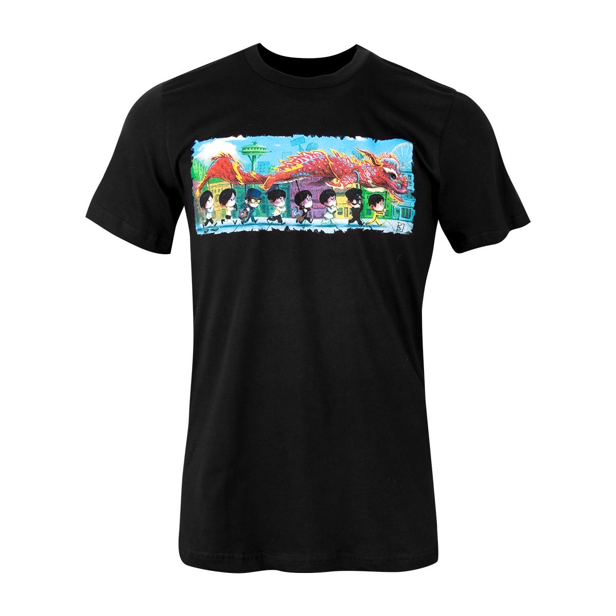 "ARTIST SERIES: ""The Dragon Dance"" T-shirt - Black"