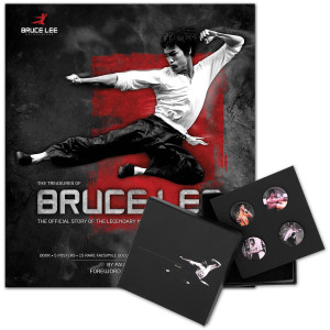 The Treasures of Bruce Lee Book/Bruce Lee LTD Edition Color Lapel Pin Set Bundle
