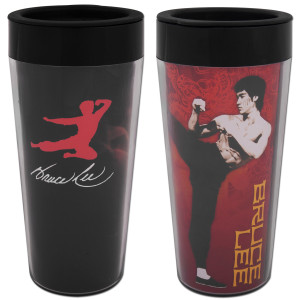 Bruce Lee Plastic Travel Mug