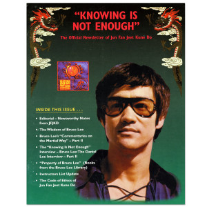 Bruce Lee - Knowing Is Not Enough Newsletter Fall 1998