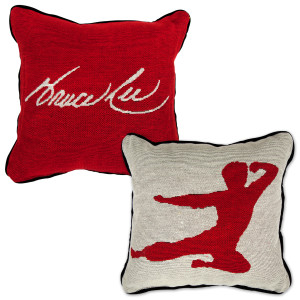 Bruce Lee Flying Man Tapestry Pillow