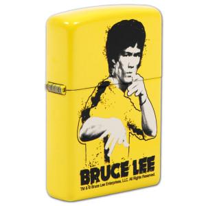 Bruce Lee Yellow Suit Splatter Lemon Zippo