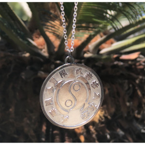 "Bruce Lee Core Symbol Medallion w/ 18"" Chain - A Bruce Lee Store Exclusive"