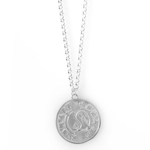 Core Symbol Large Sterling Silver Medallion & Chain