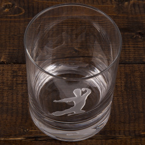 Bruce Lee Flying Man Etched Glass
