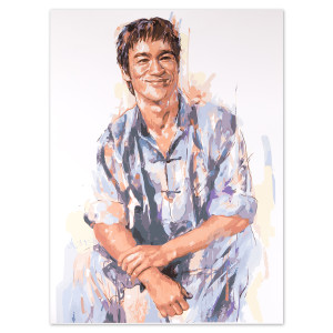 Bruce Lee Smiling Ltd Edition Milton Wong Print