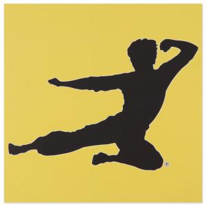 Bruce Lee Flying Man Wall Art
