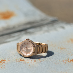 Women's Bruce Lee Ambassador S Rose Gold Meister Watch with Stainless Steel Band