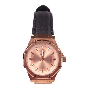 Women's Bruce Lee Ambassador S Rose Gold Meister Watch with Leather Band