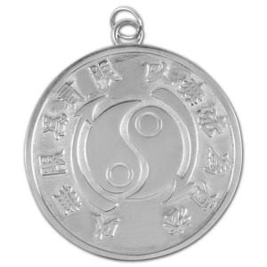 Bruce Lee Core Symbol Ladies Sterling Silver Medallion