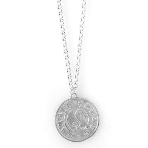 Bruce Lee Core Symbol Women's Sterling Silver Medallion + Chain
