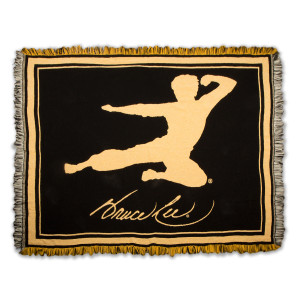 Flying Man Black/Yellow Tapestry Throw