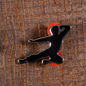 Flying Man Ltd. Ed. Black Pin