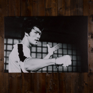 Bruce Lee Fist Bump Canvas Print
