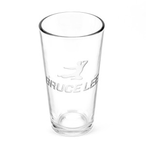 Flying Bruce 16oz. Etched Glass