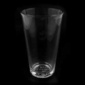 Be Water, My Friend 16oz. Etched Glass