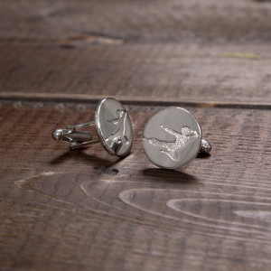 Flying Man Stainless Steel Cufflinks