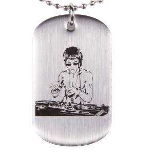DJ Dragon Dog Tag