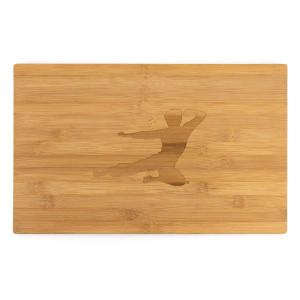 Flying Man Bamboo Cutting Board