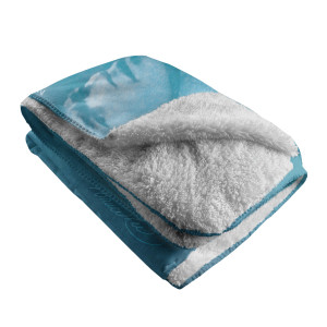Be Water, My Friend Sherpa Fleece Blanket