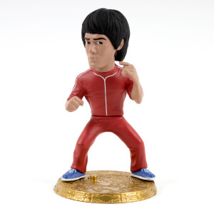 Bruce Lee Red Two-Piece Tracksuit D-Formz Figure