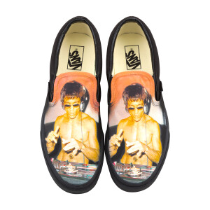 DJ Dragon Black Mono Vans Classic Slip-On