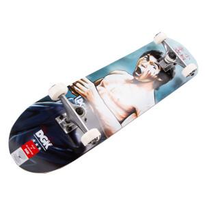 Blue Scratches Skateboard