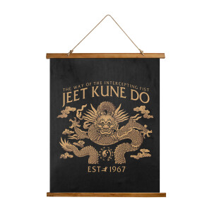 """JKD Homage Dragon Wood Topped Wall Tapestry - 26"""" x 36"""""""