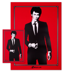 Bruce Lee Sophisticated Dragon Poster