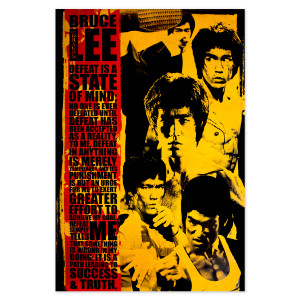 """Bruce Lee State of Mind Poster 24""""x36"""""""
