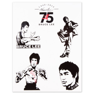 Bruce Lee 75th Anniversary Sticker Sheet