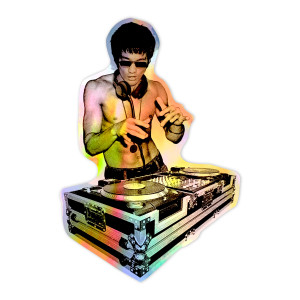 DJ Dragon Holographic Sticker