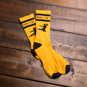 Bruce Lee Flying Man Athletic Socks