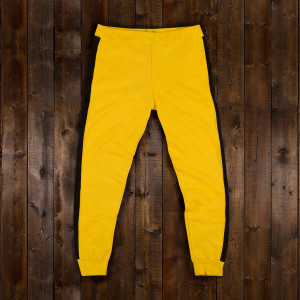 Bruce Lee Yellow/Black Men's Sweatpants - SIZE 3XL ONLY